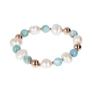 Bracciale Perle e Quarzo Bronzallure